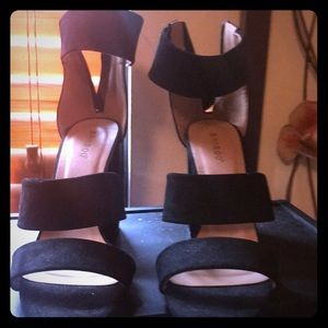 Bamboo  black suede Sandals